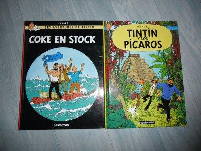 """Albums Tintin, Français et Espagnol petits formats, édition """"Casterman"""""""
