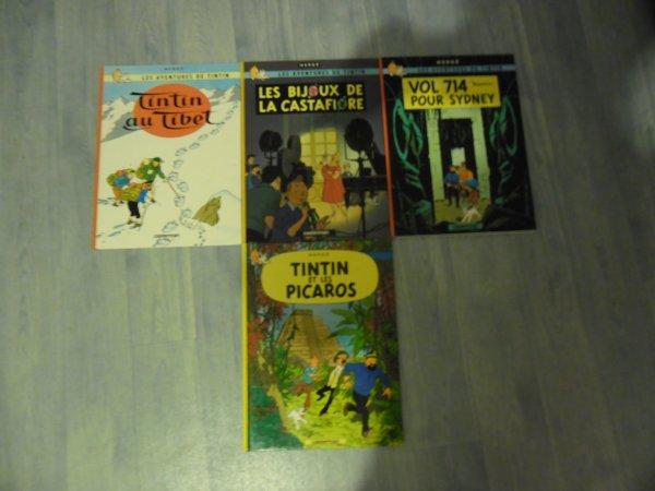 """Collection complète des albums Tintin, éditions """"Casterman"""""""