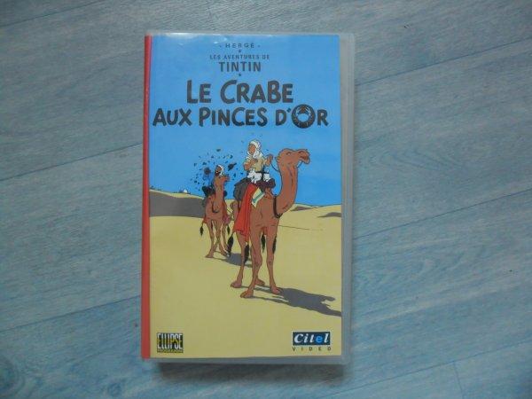 """Cassette Tintin: """"Le Crabe aux Pinces d'Or"""" (Dessin animé Ellipse)"""