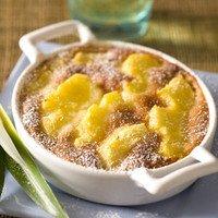 Clafoutis d'ananas à la vanille facile