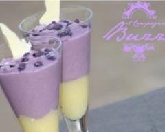 Verrines violette et chocolat blanc