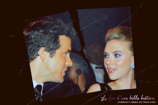 Scarlett et Ryan divorcent
