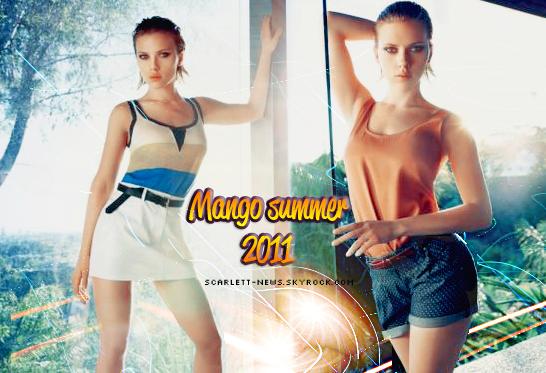 Mango été 2011 + festival de Cannes + Scarlett chez Sean Penn + shopping