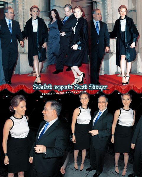 Scarlett soutient Scott Stringer + Rose The One + W Magazine + The Avengers + interview