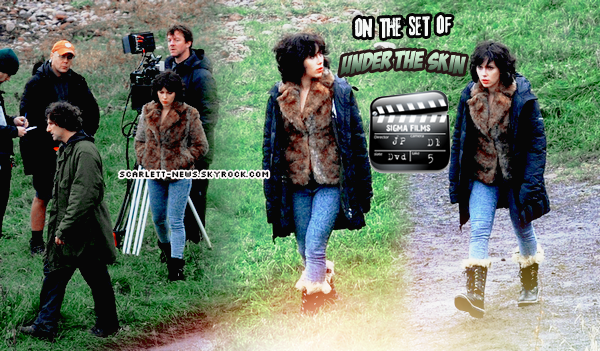 tournage d'Under the skin (suite) + Vanity Fair