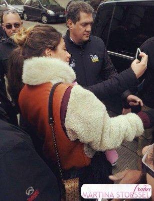 Tini et ses fans a Florence