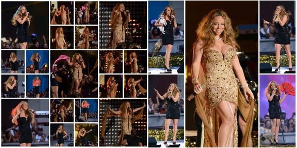 Mariah chante au Rockefeller Center