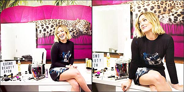Le 11 janvier : Hilary était l'invitée de Sirius XM à NYC pour promouvoir Younger.