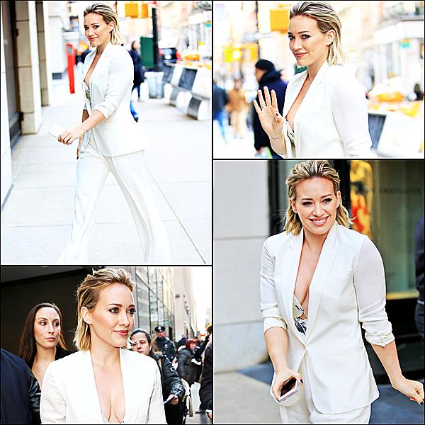 Le 12 janvier : Hilary était invitée au Today Show à NYC.
