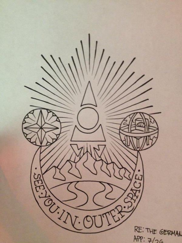 wyatt vandergeest tatoueur à los angeles - dessin du tatouage de
