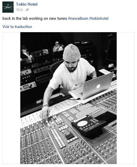 Info Facebook Tokio Hotel - 12.01.2016