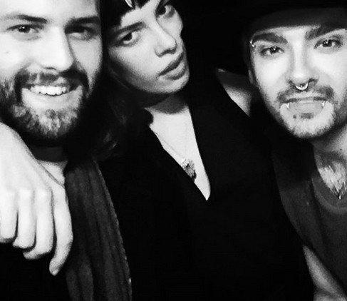 Bill Kaulitz au Soho House avec le photographe Joseph W. Ohlert et du mannequin Leslie Löwenherz - Berlin (Allemagne) -18.01.2016