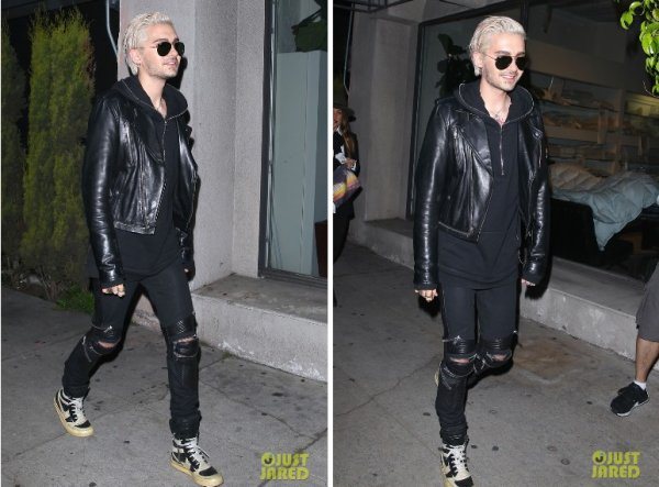 "Bill Kaulitz sortant d'une soirée au ""The Nice Guy""  - West Hollywood (Californie, USA) - 30.03.2016"