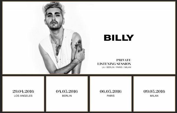 Billy Tour - Session d'écoute privée