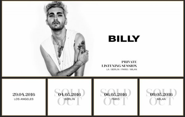 Billy Tour - Session d'écoute privée