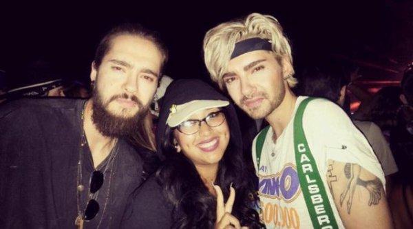 Bill & Tom Kaulitz avec une fan au Coachella 2016 - 15.04.2016