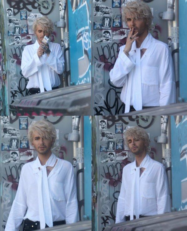 Bill Kaulitz à l'extérieur d'un club secret - Los Angeles (USA) - 29.04.2016