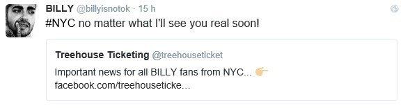 Info Twitter Billy - 06.07.2016