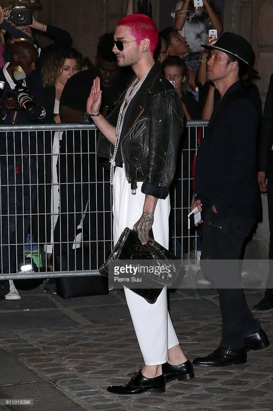 Arrivée de Bill Kaulitz à la FENTY x PUMA - Paris (France) - 28.09.2016