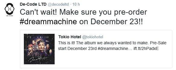 Info Twitter De-Code LTD - 20.12.2016