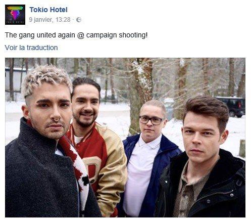 Facebook Tokio Hotel - 09 & 23.01.2017