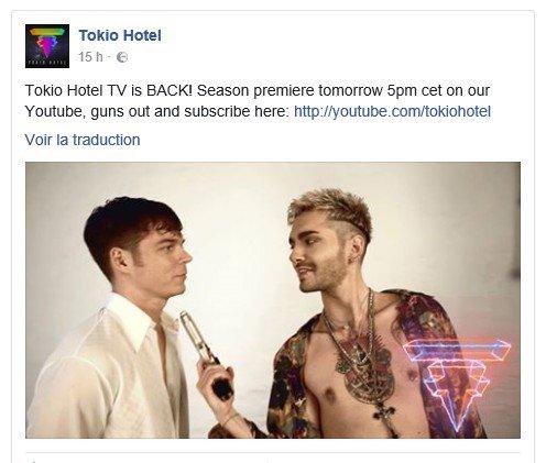 Info Facebook Tokio Hotel - 16.02.2017