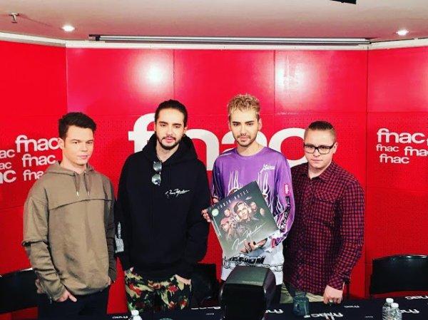 Tokio Hotel - Séance de dédicaces à la Fnac à Paris (France) - 20.03.2017