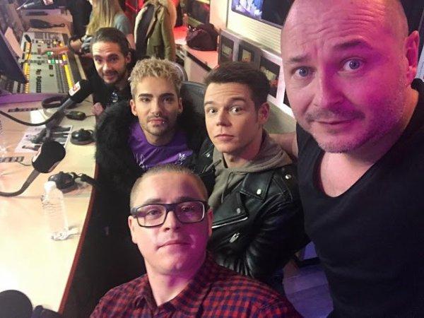 Tokio Hotel sur Radio NRJ  - Interview avec Cauet - Paris (France) - 20.03.2017