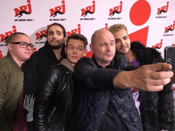 Vidéo Tokio Hotel sur Radio NRJ avec Cauet - 21.03.2017