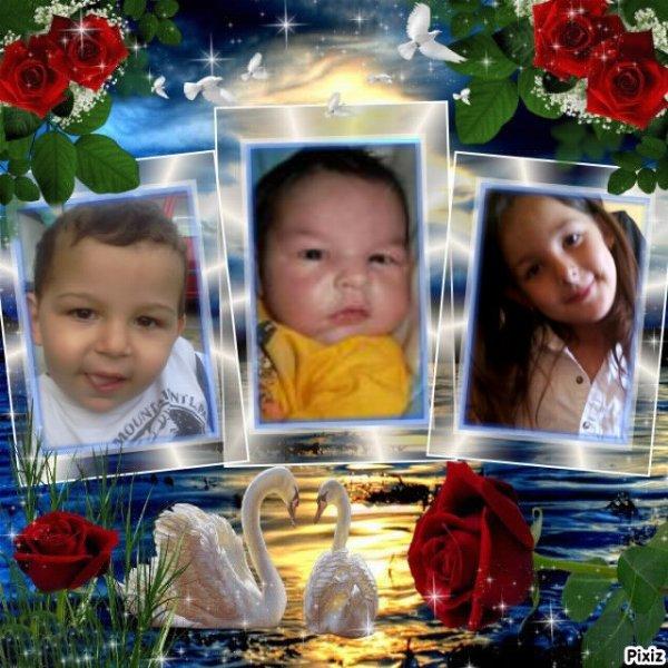 mes deux petit cousin et ma cousine je vous aime tre for
