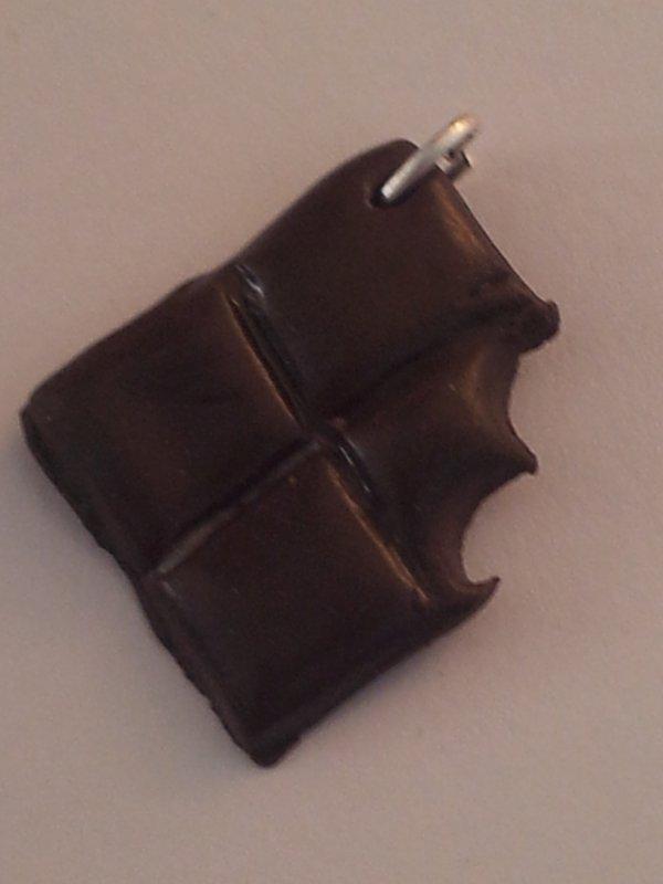 Pendentif tablette de chocolat