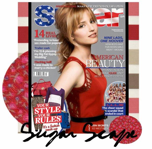"""Dianna Agron en couverture du magazine """"Sugar"""""""