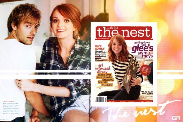 "Jayma Mays est en couverture du magazine ""The Nest"""