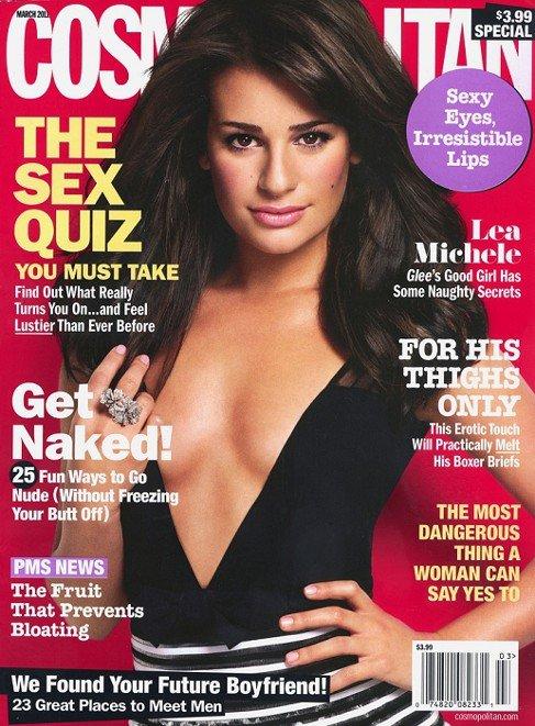 Lea Michele en couverture du magazine COSMOPOLITAN