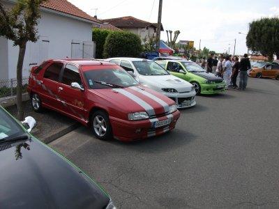 les 4 voiture au meeting de dax