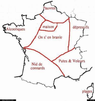 La Carte De France Vu Par Les Parisiens