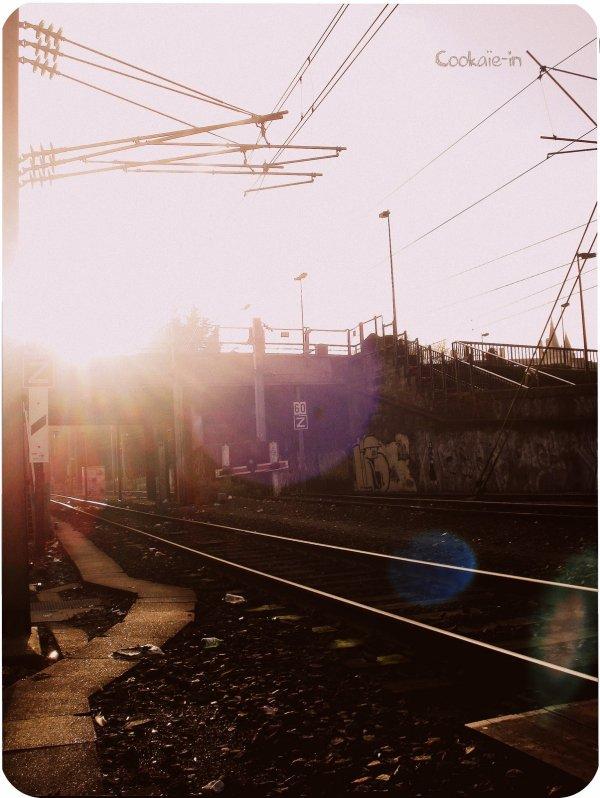 . He walks away the sun goes down