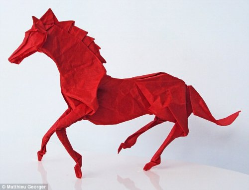 Exquisite works of the origami artist Matthew Jorge