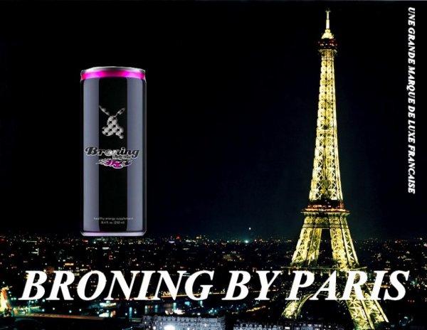 BOISSON ÉNERGÉTIQUE DRINK  BRONING BY PARIS
