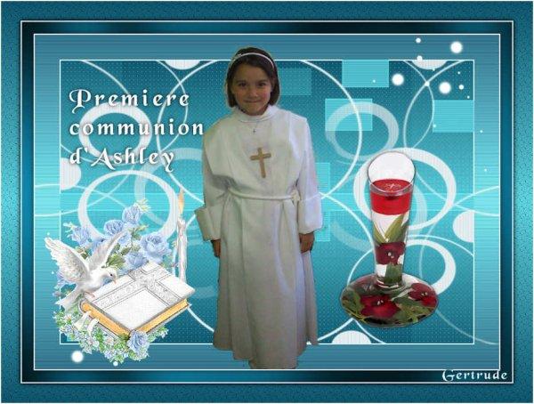 Pour la Première Communion de ma  chère petite-fille Ashley