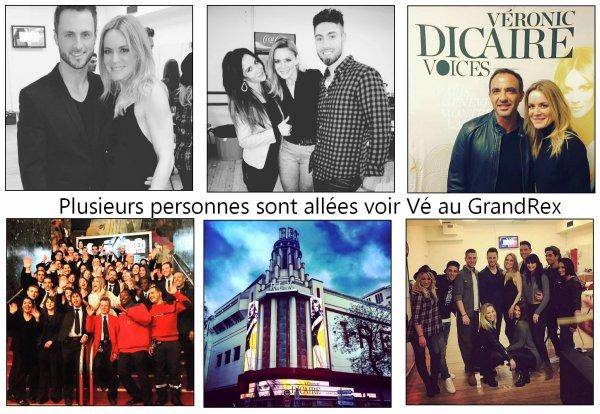 Le 5 et 6 janvier 2016, Véronic continue sa promo pour sa tournée 2016 + Photos de son passage au Grand Rex