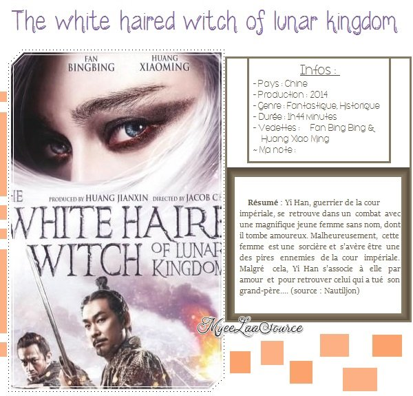 Film : The white haired witch of lunar kingdom