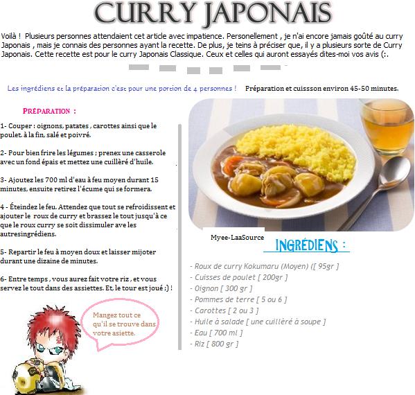 Recette du Curry Japonais version Classique