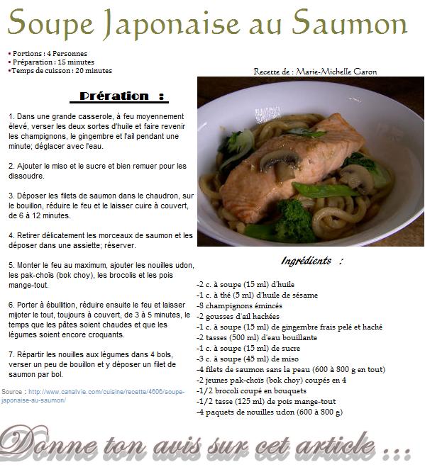 Soupe Japonaise au saumon