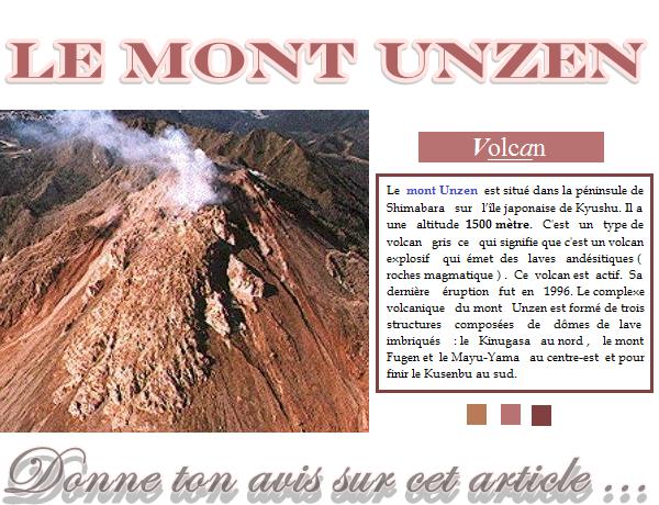 Le mont Unzen