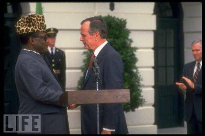 George H. W. Bush;Joseph D. Mobutu