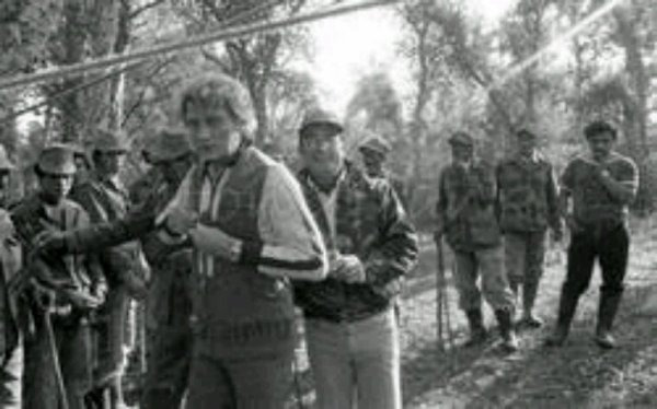 Johnny Hallyday à la chasse au Maroc