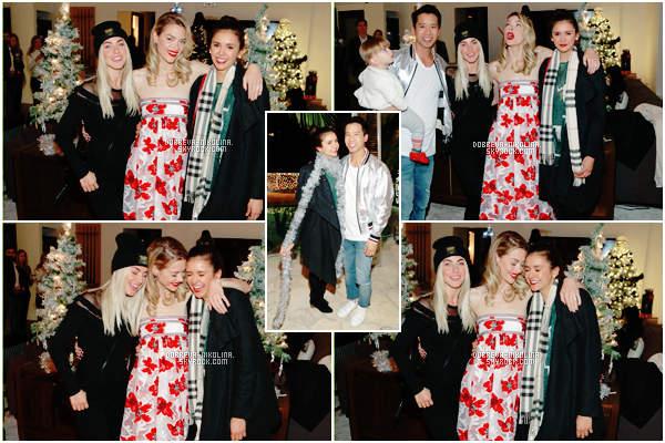 . 19.12.2016|| Notre belle Nina était présente à une fête organisée par  Just Jared , en compagnie de ses amis.  .