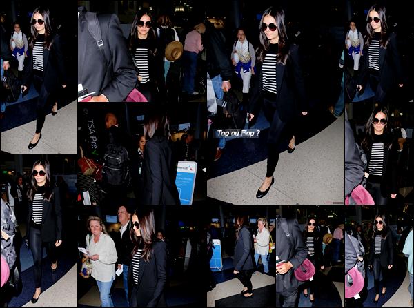 _ 04/01/2017  •Nina s'est rendue à l'aéroport de LAX pour aller à Mexico afin de faire la promo du  film xXx.Vos aimez sa tenue? _