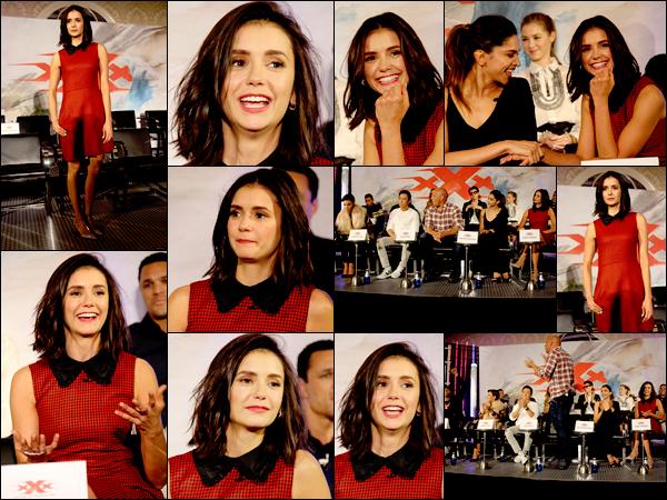 """_ 19/01/2017  •  Nina était  à une conférence de presse avec ses co-stars du film """"XXX: Return of Xander Cage"""" à LA . _"""